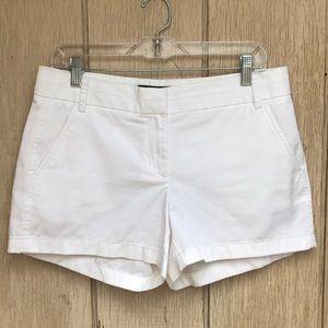 Summer must have! White JCrew chino shorts size 6